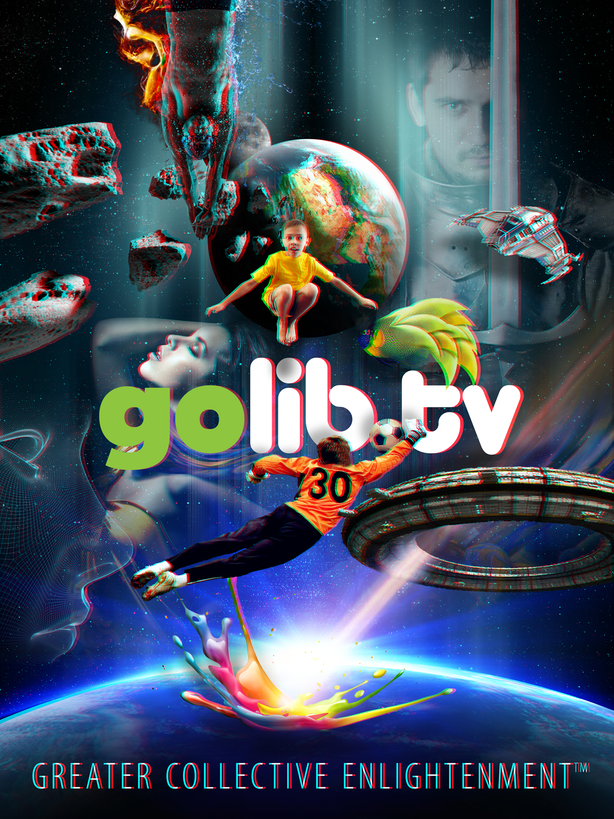 GoLibe.tv 3D Poster
